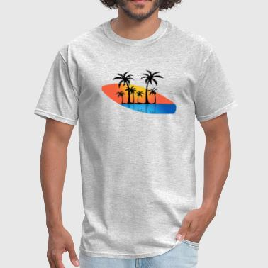 Surf Board And Ocean - Men's T-Shirt