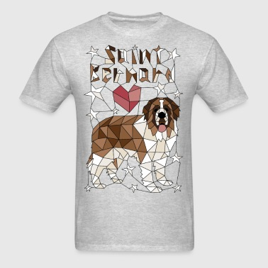 Geometric Saint Bernard - Men's T-Shirt