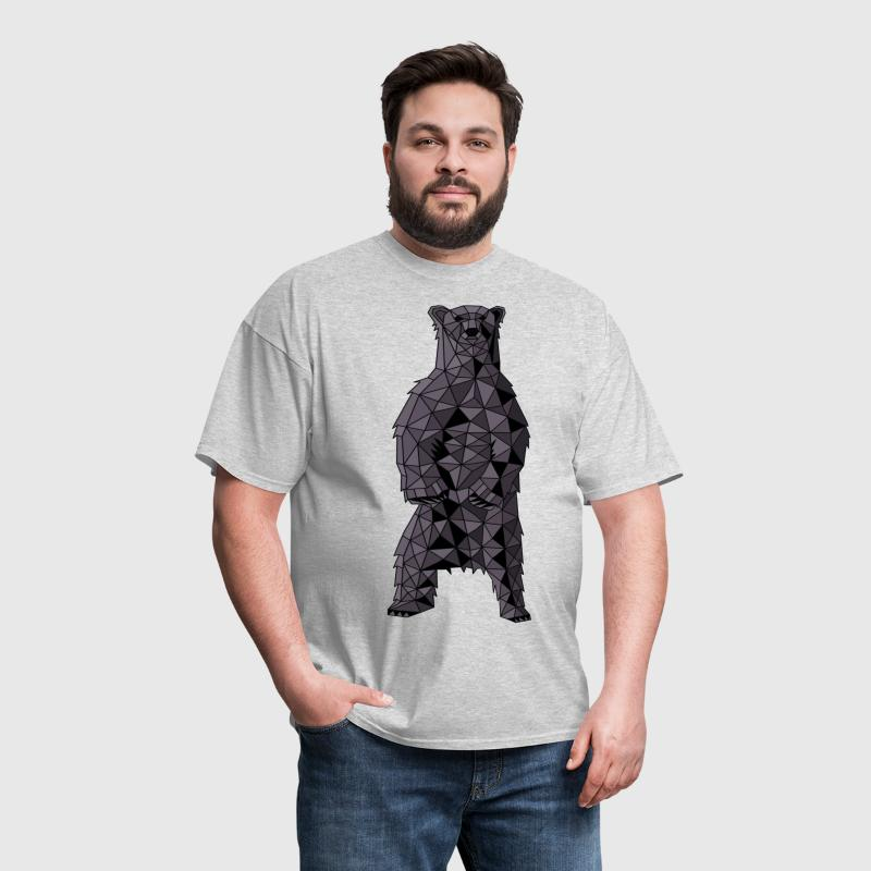 Geometric Black Bear - Men's T-Shirt
