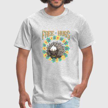 Free Hugs Porcupine - Men's T-Shirt