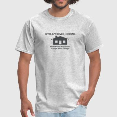 Funny Byu BYU Approved Housing T-Shirt - Men's T-Shirt