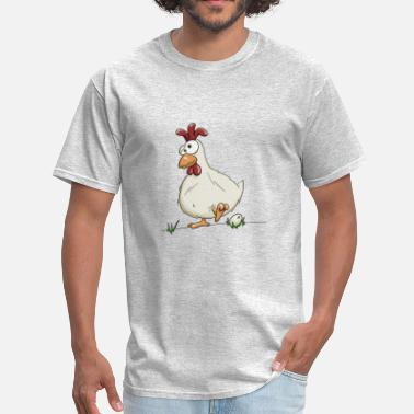 Thief crazy silly hen egg chicken farmer henhouse gift - Men's T-Shirt
