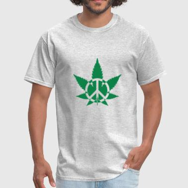 T shirt Peace Marijuana Weed - Men's T-Shirt