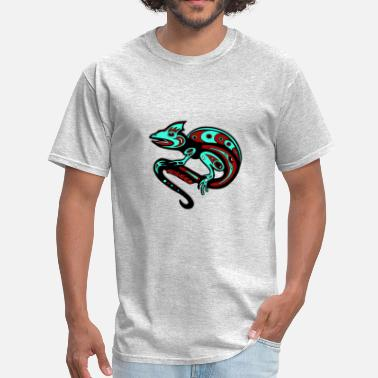 Tribal Animal Tribal Animal Chameleon - Men's T-Shirt