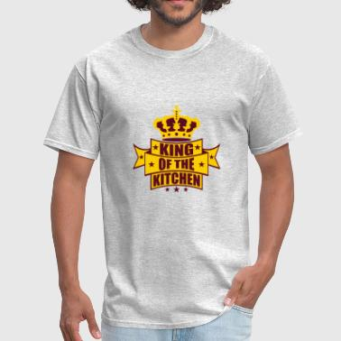 crest crown king of the kitchen king banner text e - Men's T-Shirt