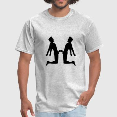Masturbation fight 2 friends team couple love peni - Men's T-Shirt