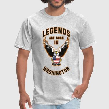 Legends are born in Washington - Men's T-Shirt