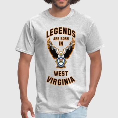 Legends are born in West Virginia - Men's T-Shirt