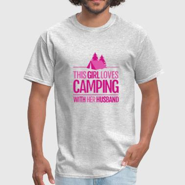 Awesome Camping Couple This Girl Loves Camping With Her Husband T Shirt - Men's T-Shirt