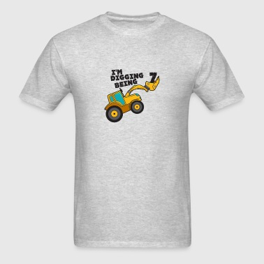 Birthday Digging 7 Family Happy Digger Nice Cool - Men's T-Shirt