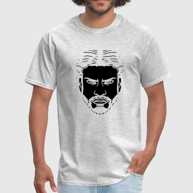 Beard Art cool head man face angry boy male serious look sex - Men's T-Shirt