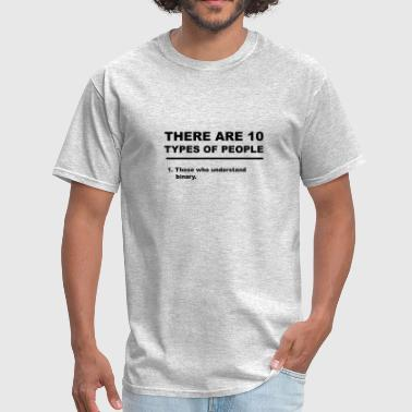 Lighting Programmer There Are 10 Types Of People White Binary - Men's T-Shirt