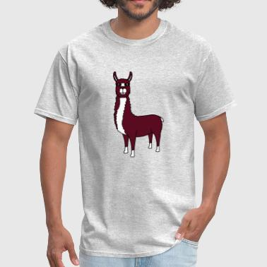 lama camel alpaca south america animal cute cute c - Men's T-Shirt