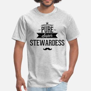 Flight Attendants 100 percent pure super stewardess - Men's T-Shirt