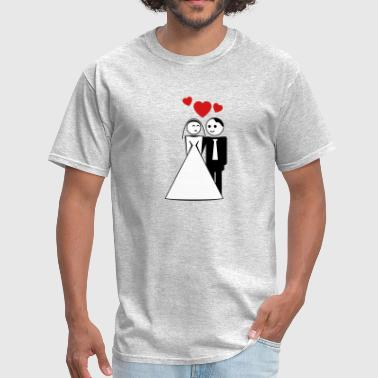 happy wed / newly wed / wedding / stag 3c - Men's T-Shirt