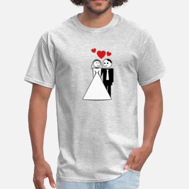 Newly Weds happy wed / newly wed / wedding / stag 3c - Men's T-Shirt