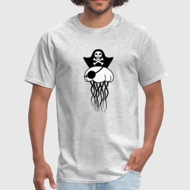 pirate pirate sailor captain hat beautiful jellyfi - Men's T-Shirt