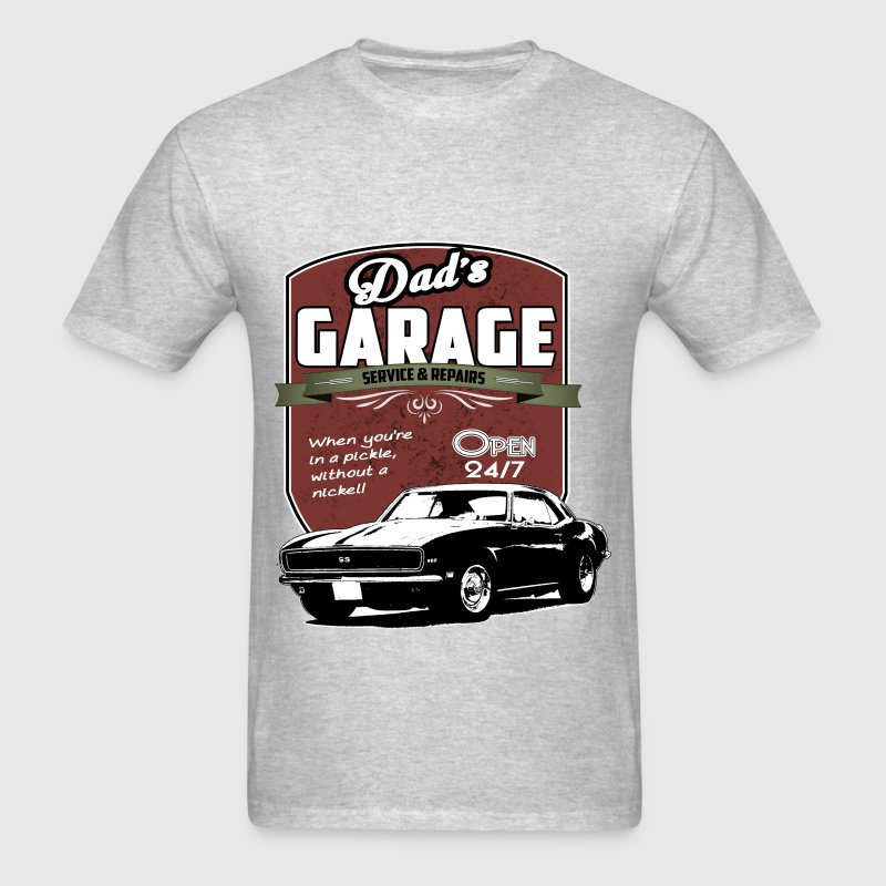 Dad's Garage Sign - Men's T-Shirt