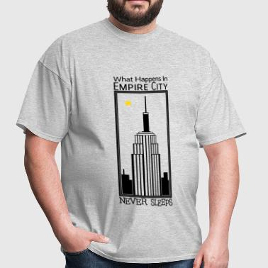 Empire City Never Sleeps - M - Men's T-Shirt