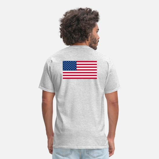 Usa T-Shirts - USAts AMERICAN FLAG STARS & STRIPES - Men's T-Shirt heather gray