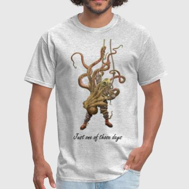 Octopus and Diver - Men's T-Shirt