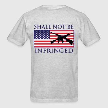 2nd-Amendment - Blue Letters - Men's T-Shirt
