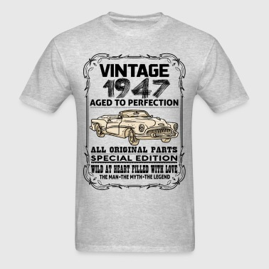 VINTAGE 1947-AGED TO PERFECTION - Men's T-Shirt