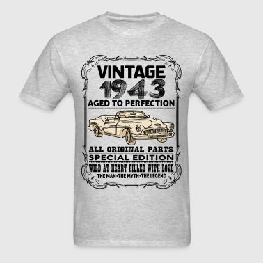 VINTAGE 1943-AGED TO PERFECTION - Men's T-Shirt