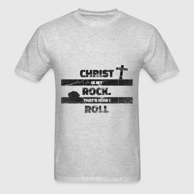 Christ is my Rock (dark) - Men's T-Shirt