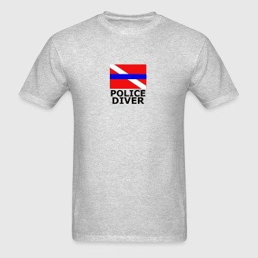 Police Diver Flag - Men's T-Shirt