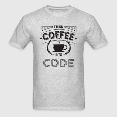 I turn coffee into code - Men's T-Shirt