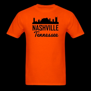 Nashville Tennessee Skyline - Men's T-Shirt