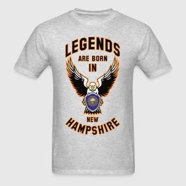 Legends are born in New Hampshire - Men's T-Shirt