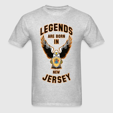 Legends are born in New Jersey - Men's T-Shirt