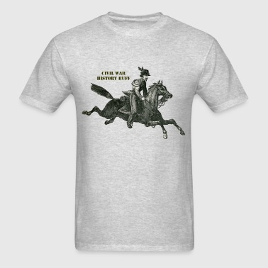 Civil War Confederate Cavalry Soldier on a Horse - Men's T-Shirt