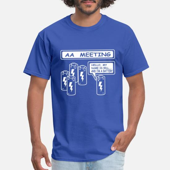 afc304671b AA MEETING Battery funny t-shirt Men's T-Shirt | Spreadshirt