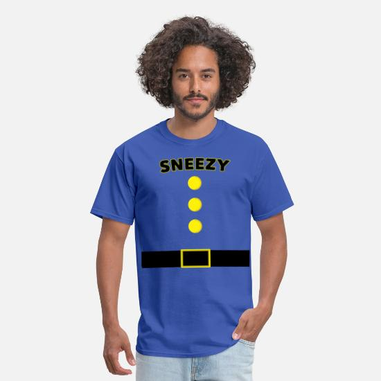 Birthday T-Shirts - Sneezy Dwarf Halloween and Christmas Costume Shirt - Men's T-Shirt royal blue