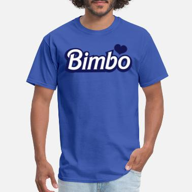 Bimbo bimbo in cool font - Men's T-Shirt