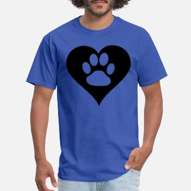 Heart Paw Paw in heart - Men's T-Shirt