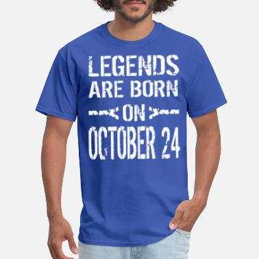 Legends are born on October 24 - Men's T-Shirt