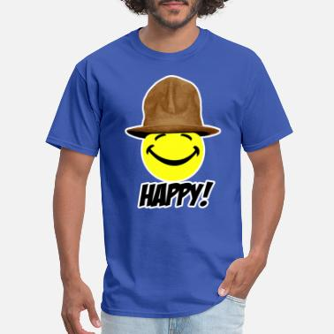 Williams Happy in Pharrell Hat - Men's T-Shirt
