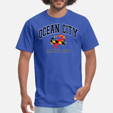 Md Ocean City Maryland Crab - Men's T-Shirt