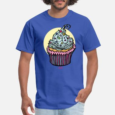 Sprinkles Cupcakes Cupcake with colored sprinkles - Men's T-Shirt