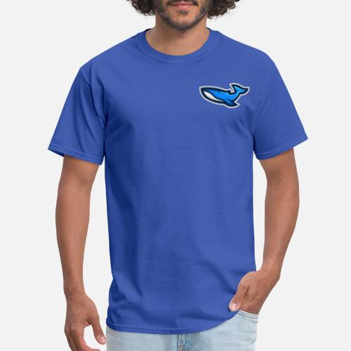 5c2b1b614894 WHALE MASCOT LOGO BLUE Men s T-Shirt