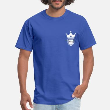 Breast King King and Queen breast pocket couple t-shirt - Men's T-Shirt