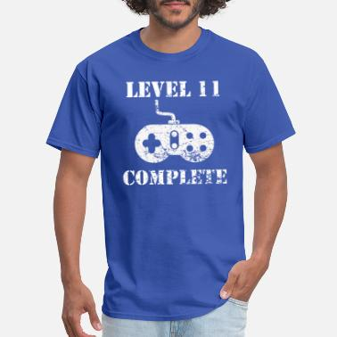 Level 11 Complete Level 11 Complete 11th Birthday - Men's T-Shirt
