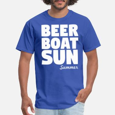 Boating Beer Beer Boat Sun Summer - Men's T-Shirt