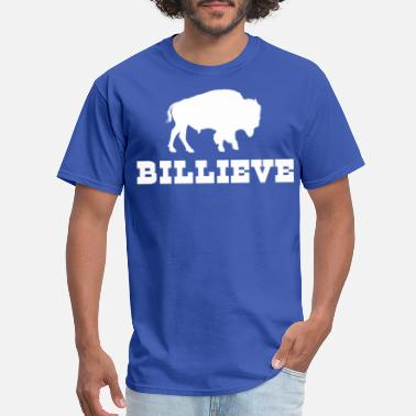 Man On A Buffalo Bills Mafia Billieve - Buffalo Football Shirt - Men's T-Shirt