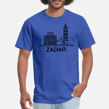 Zadar From Croatia with Love - Silhouette Zadar black - Men's T-Shirt