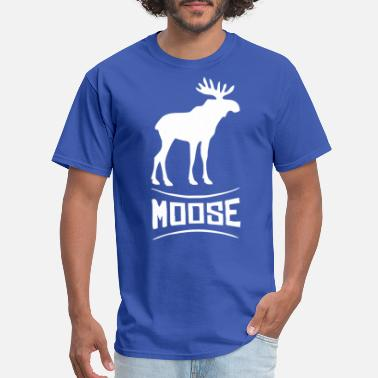 Moose Moose Funny Animal - Men's T-Shirt